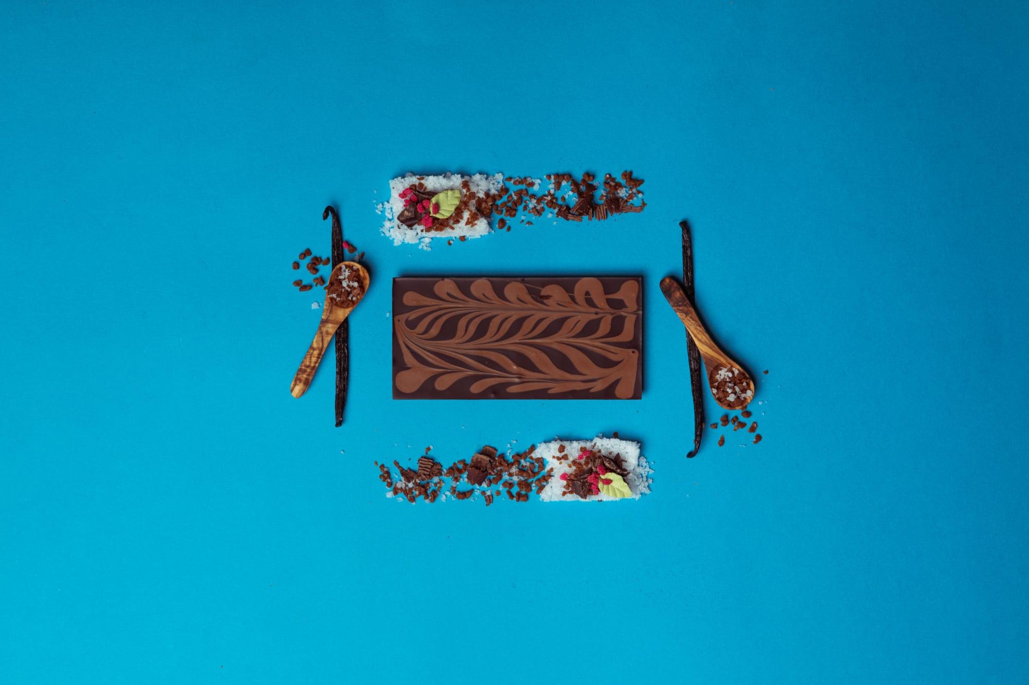 Dark Chocolate Salted Caramel chocolate bars - Wilde Irish Chocolates