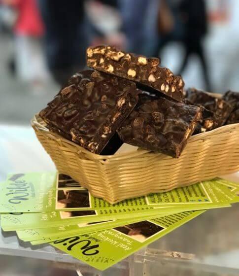 Dark Chocolate Rocky Road Milk Market Limerick Basket - Wilde Irish Chocolates