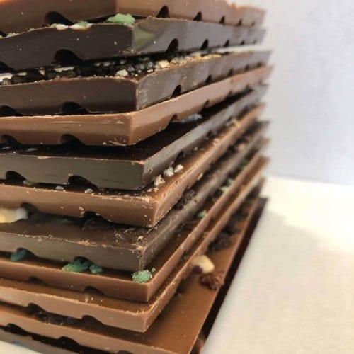 Bar 6 packs-Top Milks & Darsk Stack of Bars 3 - Wilde Irish Chocolates