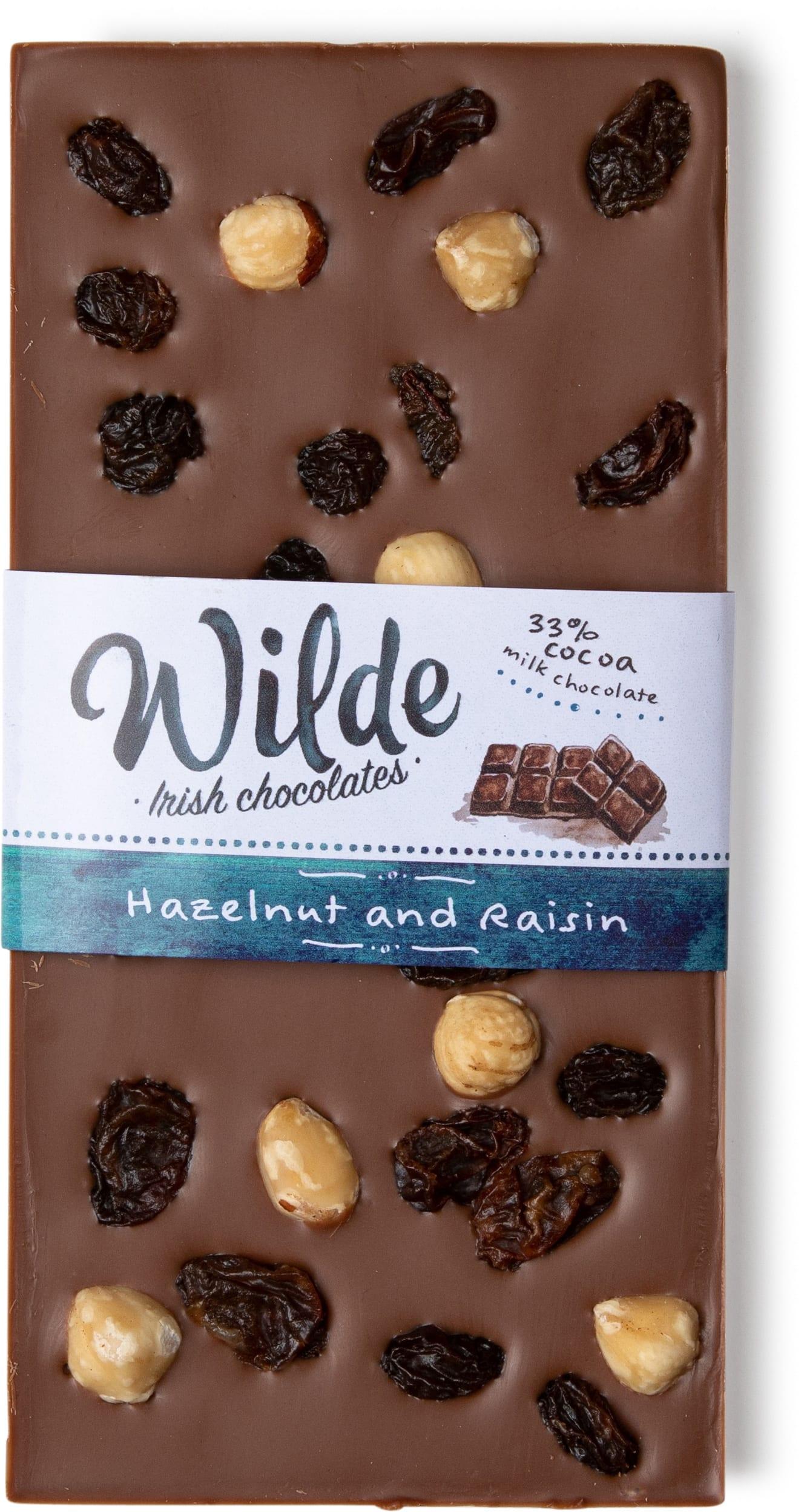Hazelnut and Raisin bar - Wilde Irish Chocolates