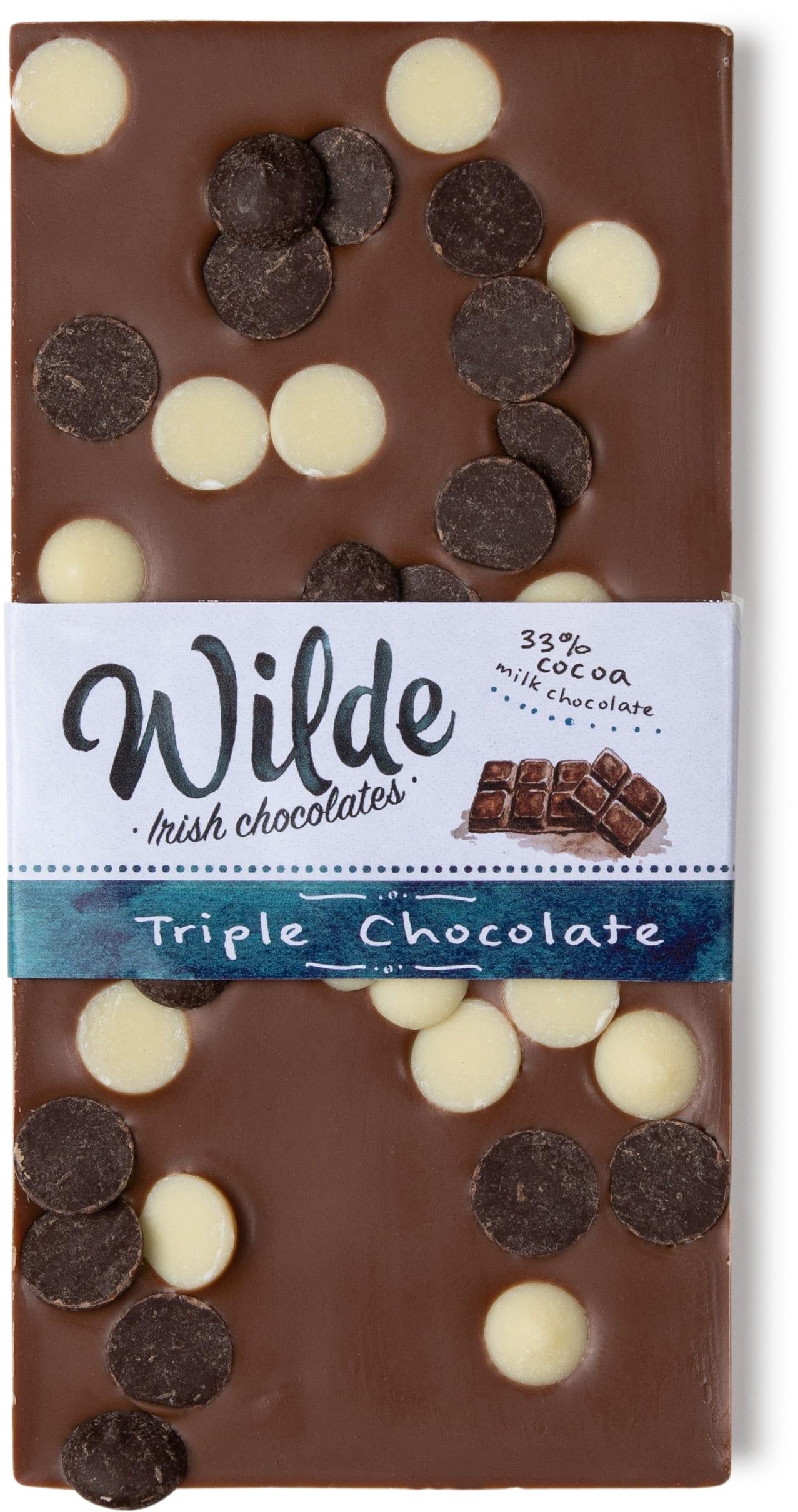 Triple chocolate bar - Wilde Irish Chocolates