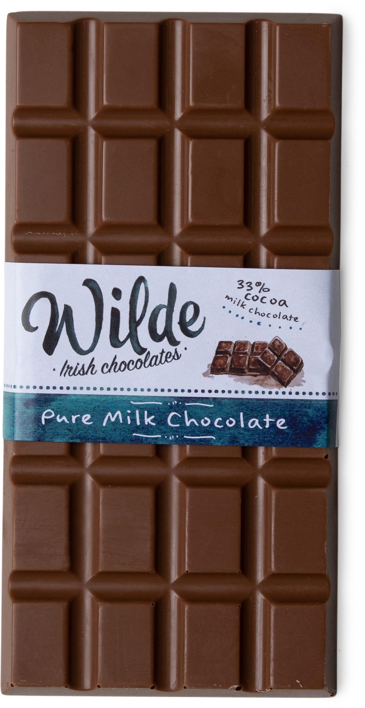 Pure milk chocolate bar - Wilde Irish Chocolates