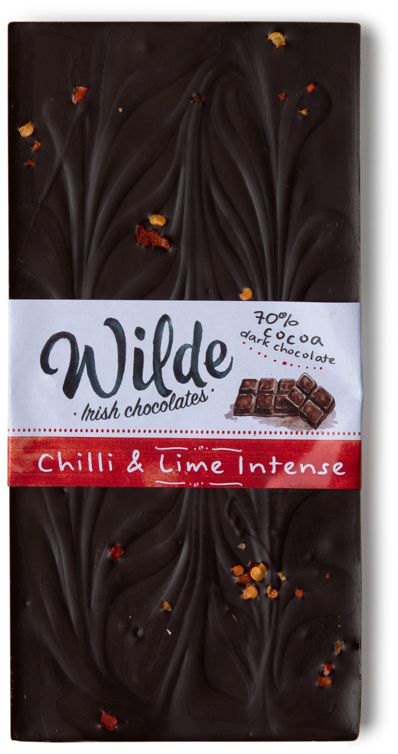 chilli & lime intese chocoalte bar - Wilde Irish Chocolates