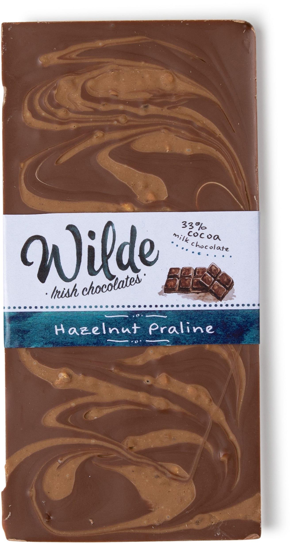 hazelnut praline bar - Wilde Irish Chocolates