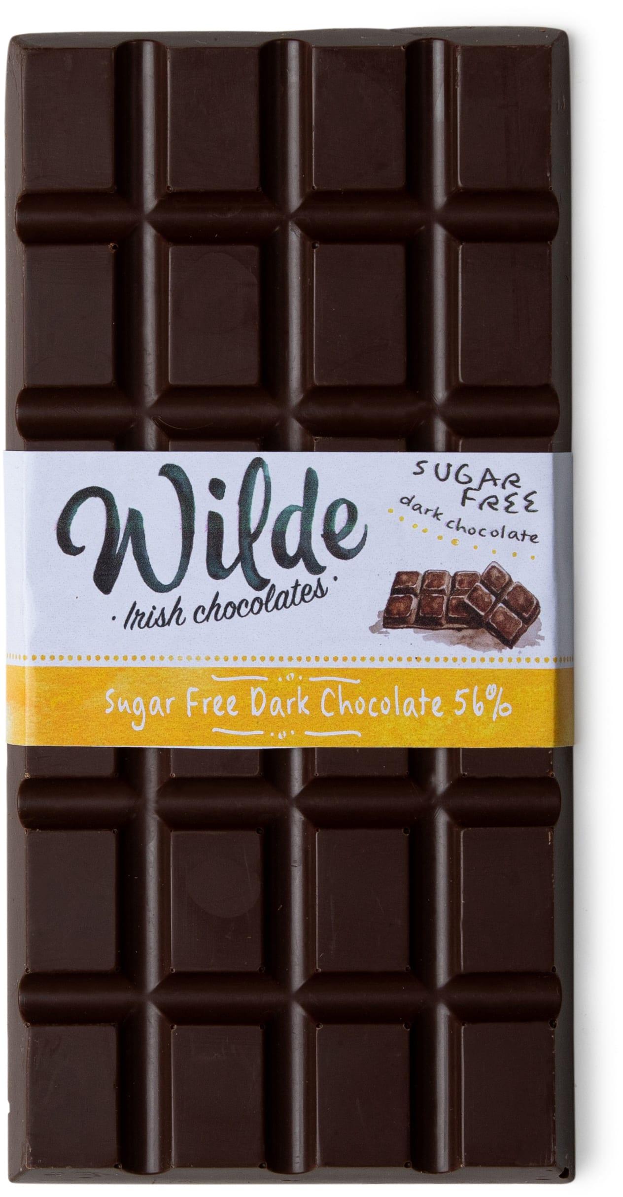 sugar free dark 56% chocolate bar - Wilde Irish Chocolates