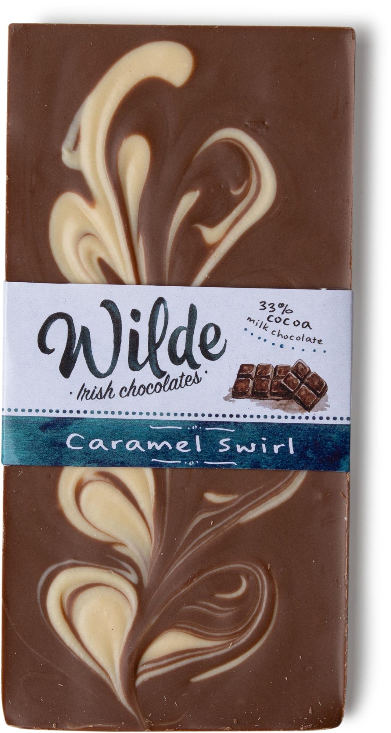 caramel swirl chocolate bar - Wilde Irish Chocolates