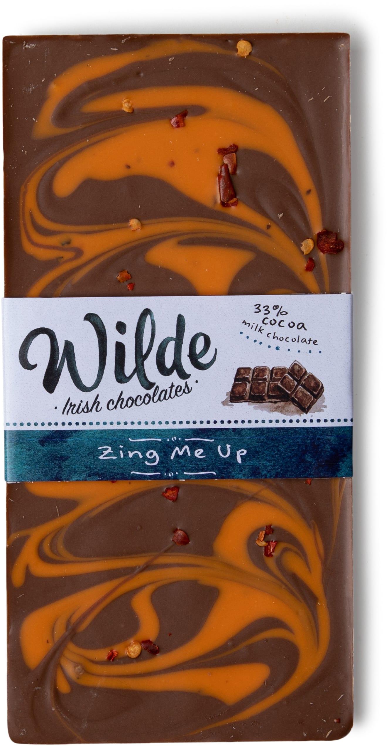 zing me up chocolate bar - Wilde Irish Chocolates