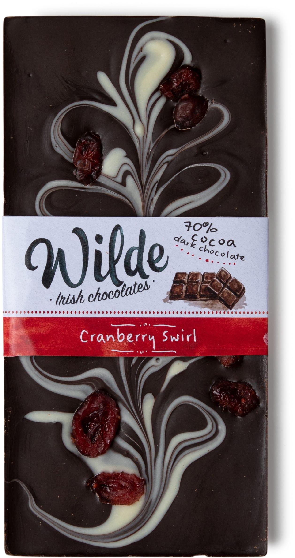 cranberry swirl chocolate bar - Wilde Irish Chocolates