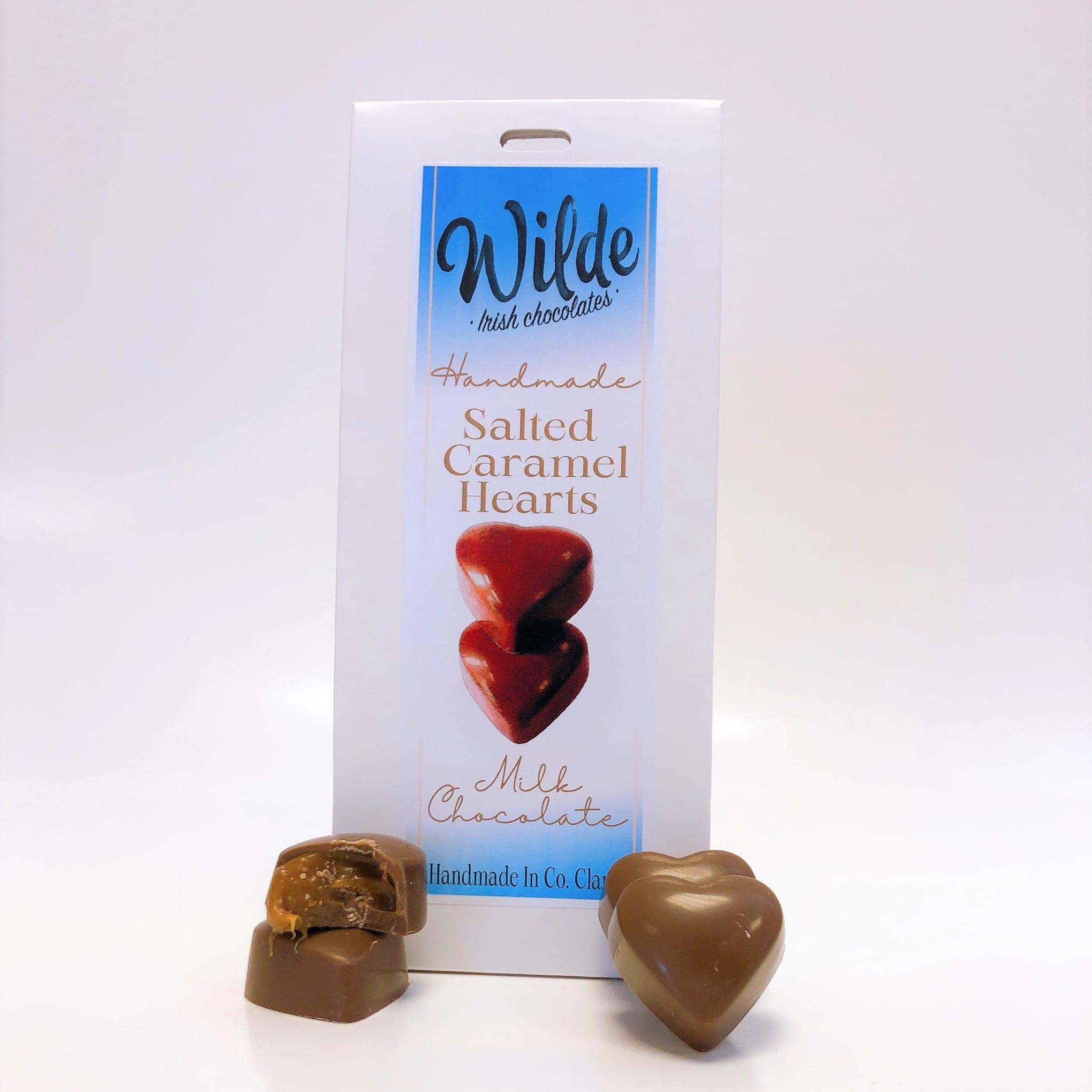Milk Chocolate Salted Caramel Hearts Gift Box - Wilde Irish Chocolates