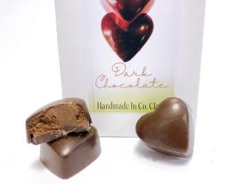 Dark chocolate vegan chocolate hearts candy - Wilde Irish Chocolates